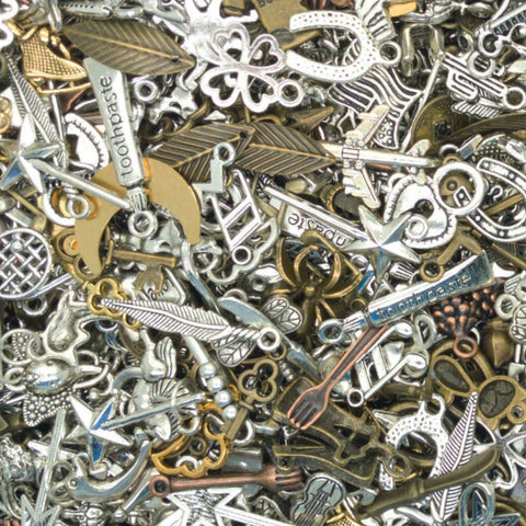 Bulk Metal Charms - 75 pc Alloy Charms Grab Bag - Adorabilities Charms