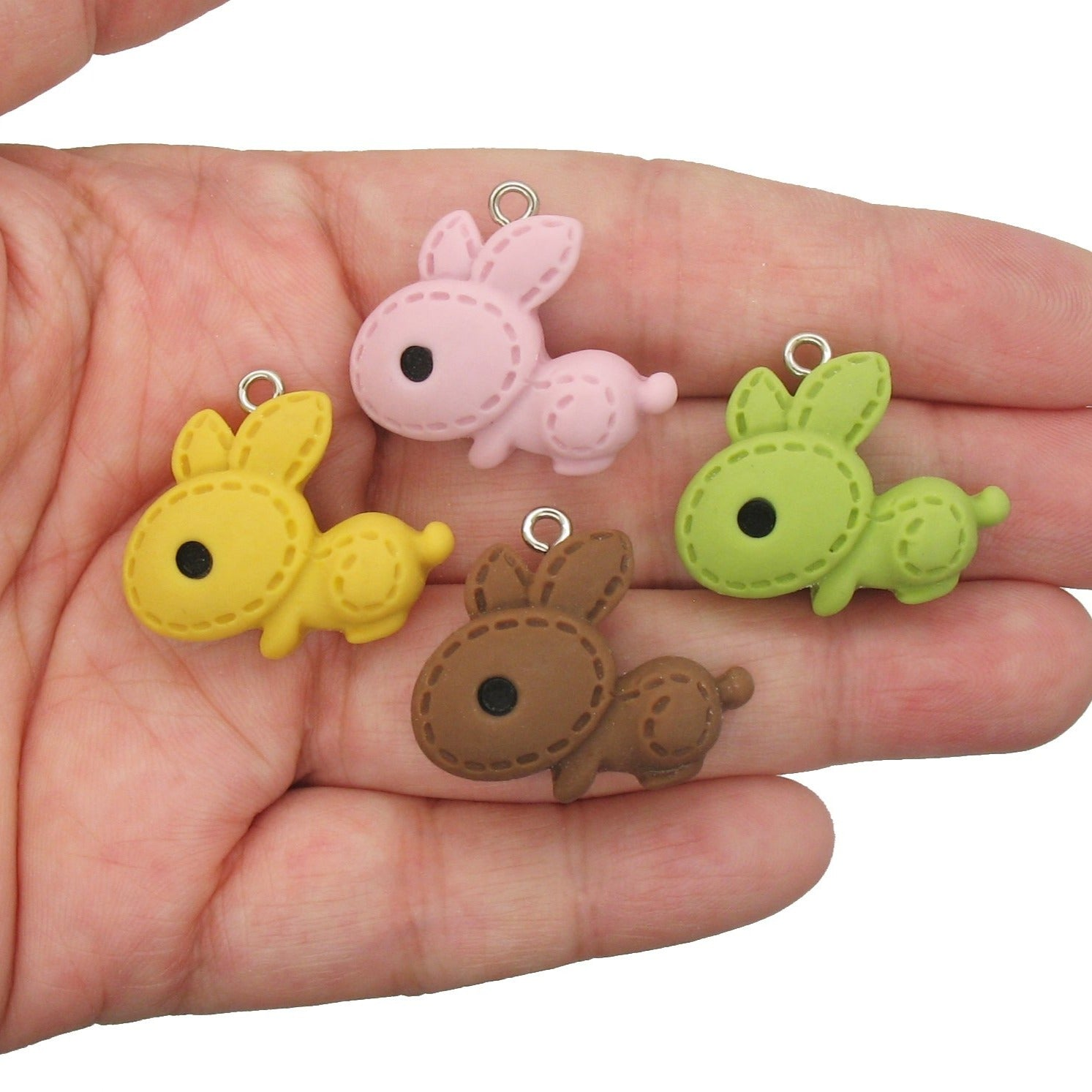 Easter Bunny Charms - Cute Rabbit Resin Cabochons Mix - Adorabilities Charms