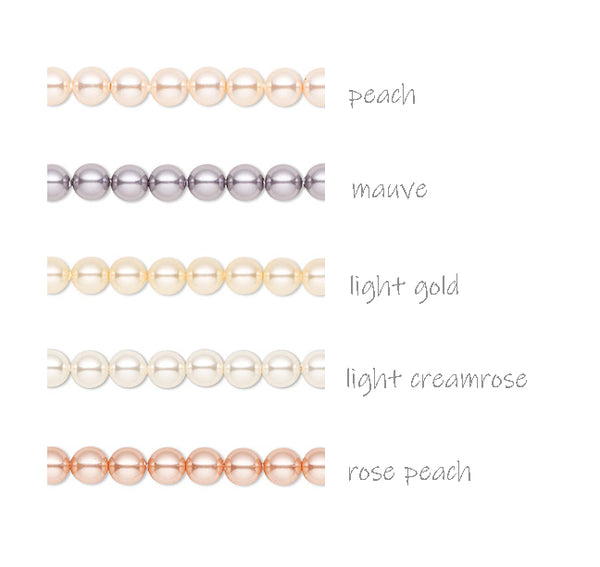 Charms made with Swarovski Crystal Pearls - Peach Cream Mauve 6mm Bead Dangles - Adorabilities Charms