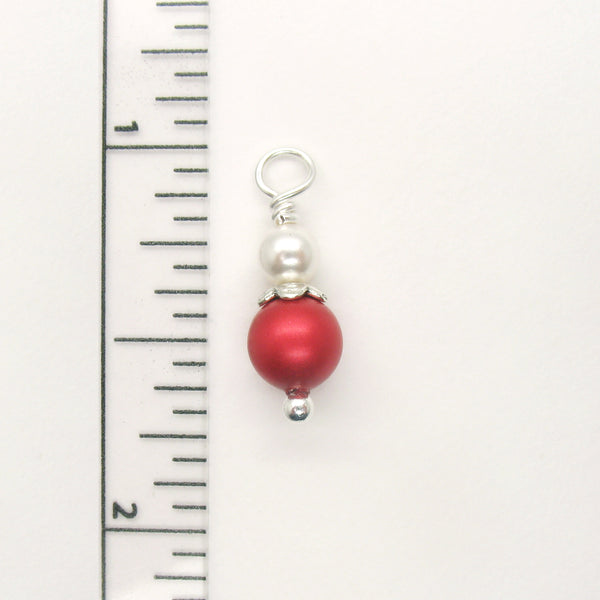 Christmas Dangle Charms made with Swarovski Crystals - Holiday Jewelry Supply - Adorabilities Charms