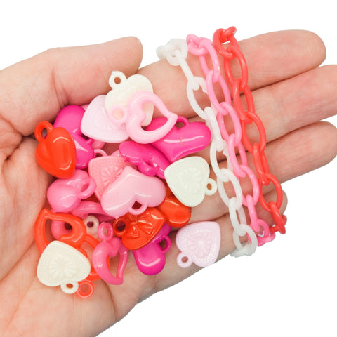 Heart Bracelet Kit - DIY Kawaii Kandi Love Bracelet Set - Adorabilities Charms & Trinkets