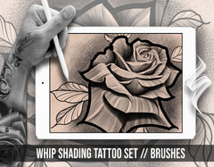 10 whip shading tattoo brushes for procreate app ipad by brushestock.com