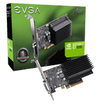 EVGA GeForce GT 1030 DDR4, 02G-P4-6232-KR, 2GB SDDR4, Passive, Low Profile Graphics Card
