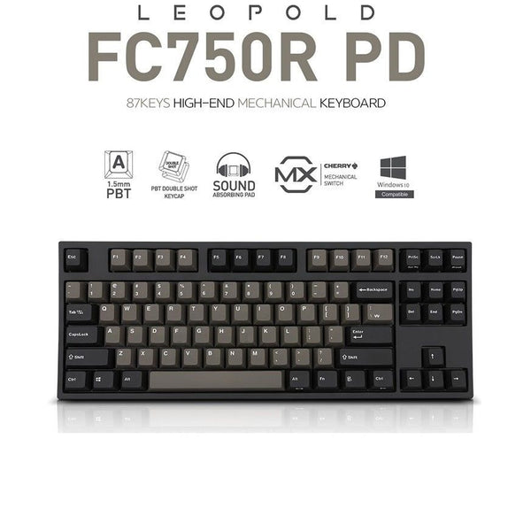 LEOPOLD FC750RC/EBPD Mechanical Keyboard Cherry MX Blue Double Shot PBT Graphite (MX BLUE)