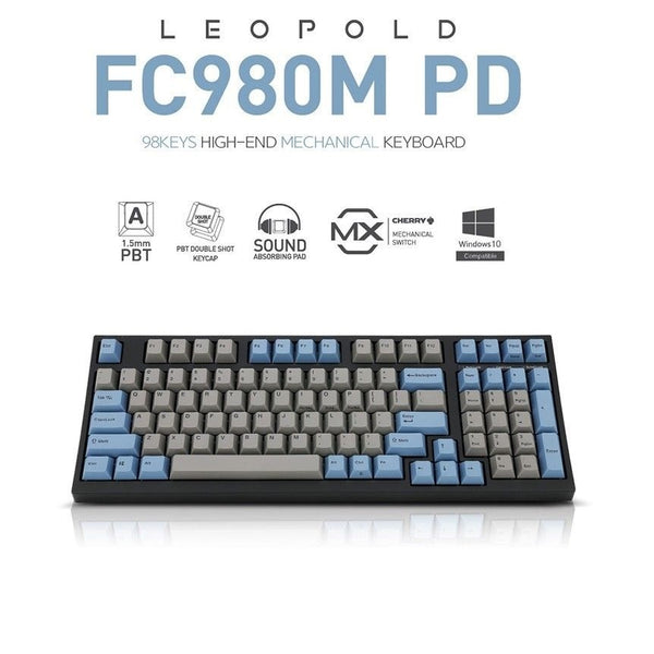 LEOPOLD FC980M PD Mechanical Keyboard Cherry MX Double Shot PBT Blue/Gray (MX BROWN/ MX BLUE)