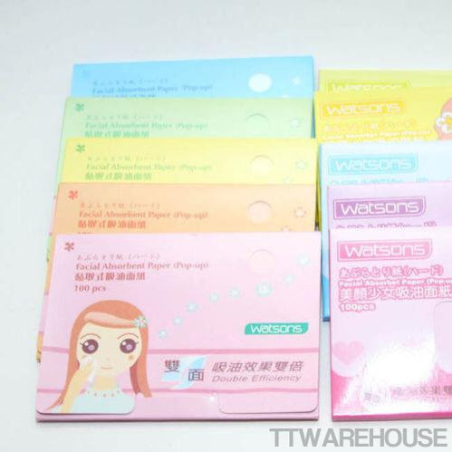 WATSONS Facial Oil Blotting Paper (10 pack = 1000 Sheets)