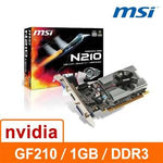 MSI   GT210 - MD1G / D3   1G   DDR3   64bit   PCI - E   3D圖形加速卡 GFX Graphics Card