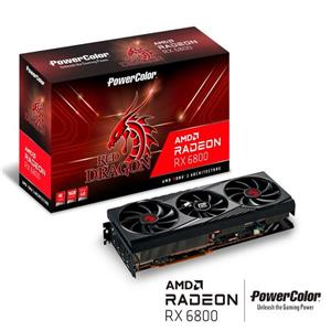 PowerColor RX   6800   Red   Dragon   OC   LED   16G   GDDR6   256bit顯示卡 GFX Graphics Card
