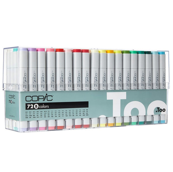 .TOO COPIC CLASSIC 72 Colors Set B 72B Premium Artist Markers