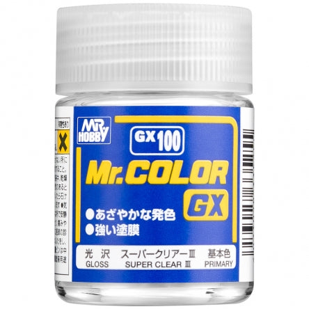 MR.HOBBY Mr.Color GX100 Super Clear III LACQUER PAINT GSI CREOS (18ml)
