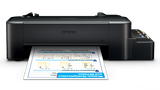 EPSON L120 Inkjet 4-Color Ink Tank System (ITS) Compact Printer with Inkset
