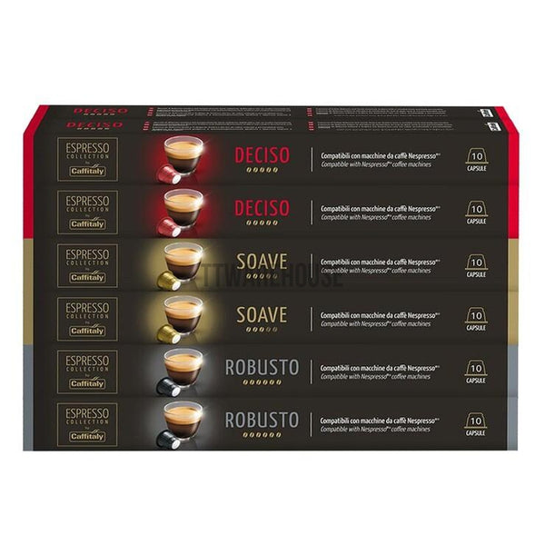 Caffitaly Coffee Capsule 120 pods, 3 flavors (Nespresso compatible)