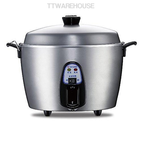 TATUNG TAC-11T-NM 10-CUP Stainless Indirect Heating Rice Cooker (110V)
