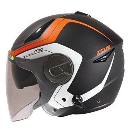 ZEUS ZS-612A AD4 Double Visor DOT ECE Helmet (Matte Black/Orange)