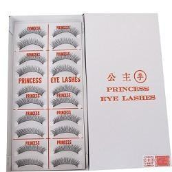 "ORIGINAL PRINCESS LEE Handmade False Fake Eyelash ""X6 Black"" (10 Pairs) MADE IN TAIWAN"