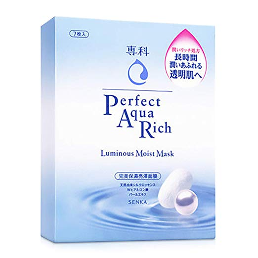 Senka Aqua Rich Mask Luminous Moist (7PCS)