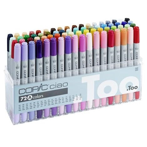 .TOO COPIC CIAO Marker Set 72A Color Premium Artist Markers (I72A)