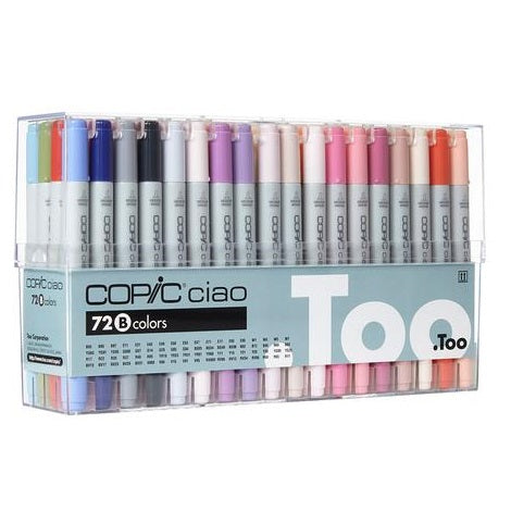.TOO COPIC CIAO Marker Set 72B Color Premium Artist Markers (I72B)