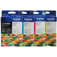 BROTHER LC40 Ink Cartridges set LC40 BK/C/Y/M J430W J432W J625DW J825DW