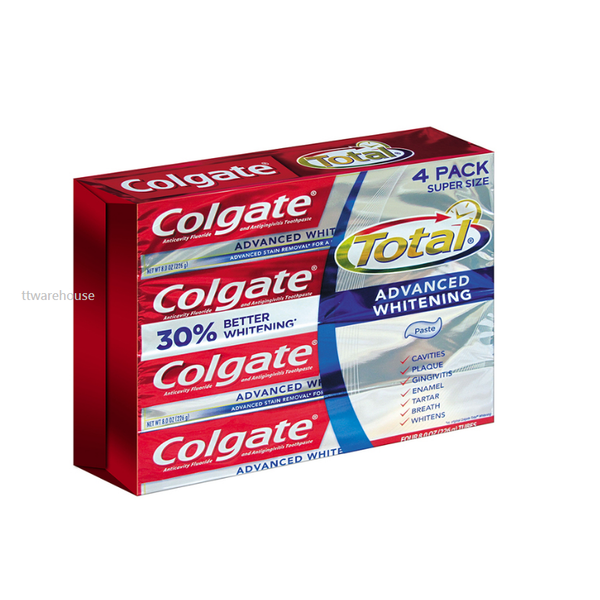 Colgate Advance Whitening Toothpaste 226g 4-Pack