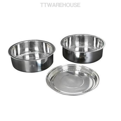 TATUNG TAC-S02 10CUPS (3 PCS) STEAMER SET, STAINLESS STEEL