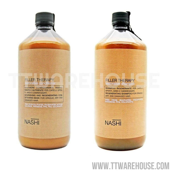 LANDOLL NASHI ARGAN FILLER THERAPY Restorative Shampoo (1000ml) & Conditioner (1000ml)
