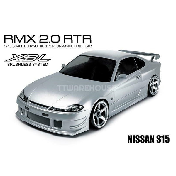 MST 533705S RMX 2.0 Nissan S15 Silver Body Brushless 1:10 RWD RTR Drift RC Car