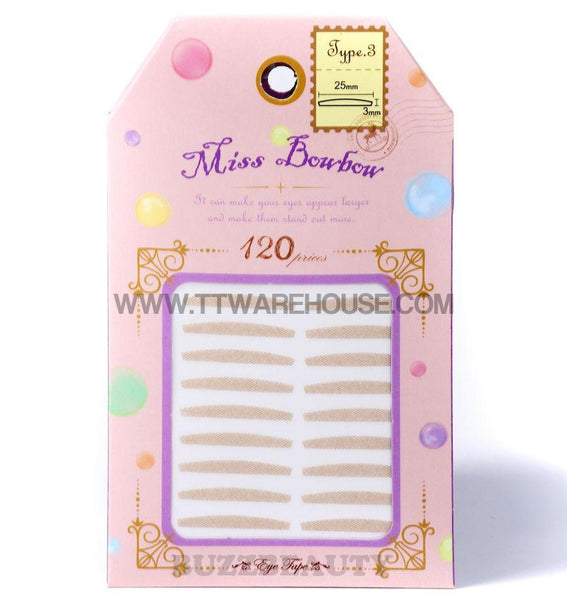MISS BOWBOW 3M Mesh Type Double Eyelid Tape (Type 3 Inside Lid)