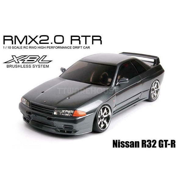 MST 533713 RMX 2.0 RTR NISSAN R32 GT-R (Brushless) 1/10 RWD RC Drift Car, Grey (Pre-Paint)
