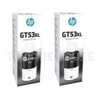 (2 PCS) Original HP GT53XL GT51 BLACK 135ml Bottle For Ink Tank GT 5820 5810