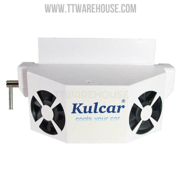 Kulcar Solar Ventilator Car Window Pet Wood House Air Fan Cooling (White)