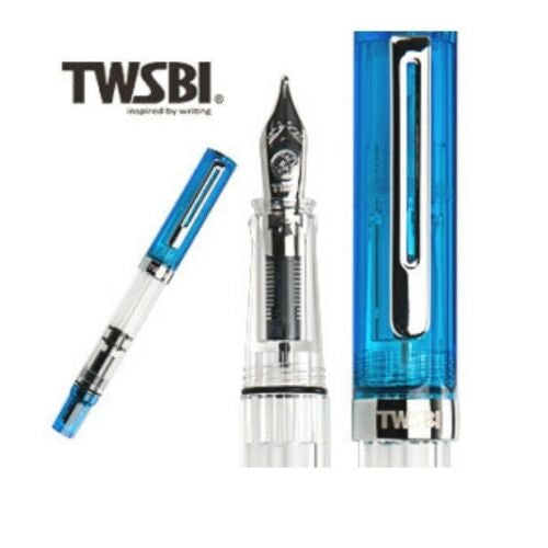 TWSBI Special Edition ECO Piston Fountain Pen (Jelly Blue)