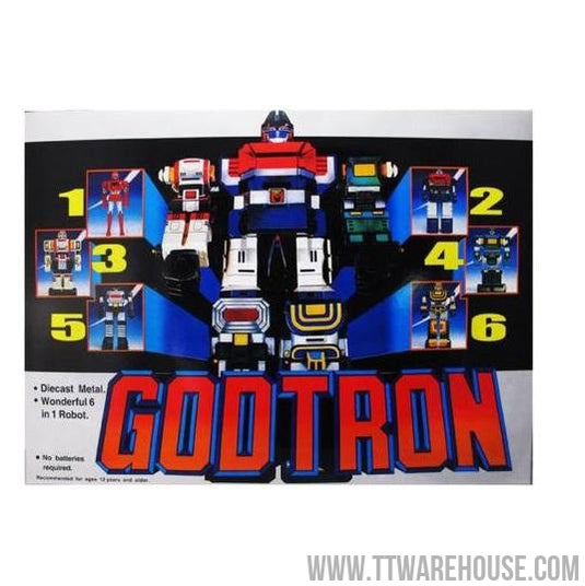 "GODTRON Robot Figure Six God Combination 12"" Die-Cast (TW Version)"