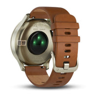 GARMIN Vivomove HR Smart Watch Leather Strap (SMALL/MEDIUM - GOLD)