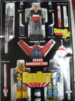 GODBOT SPACE COMBINATION Taiwan Version 1980 Chogokin Die-Cast Metal Robot (COMPLETE SET)