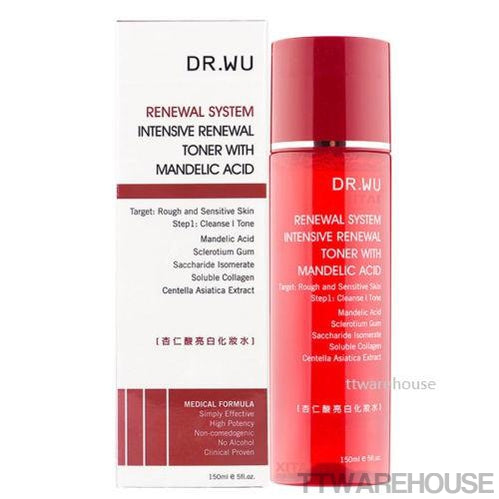 DR. WU Intensive Renewal Toner With Mandelic Acid Reduce Dark Freckles (150ml)