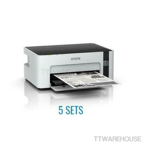 (5 SETS) EPSON M1120 ECOTANK Monochrome WiFi Ink Tank Printer (100V~240V)