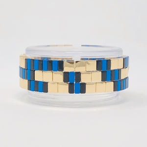Blue & Black Stack (Blue Stripe)