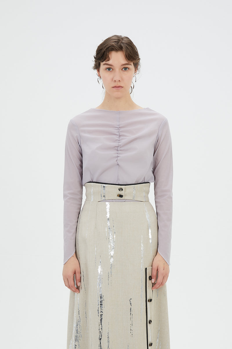 Stretch sheer top (Lavender)