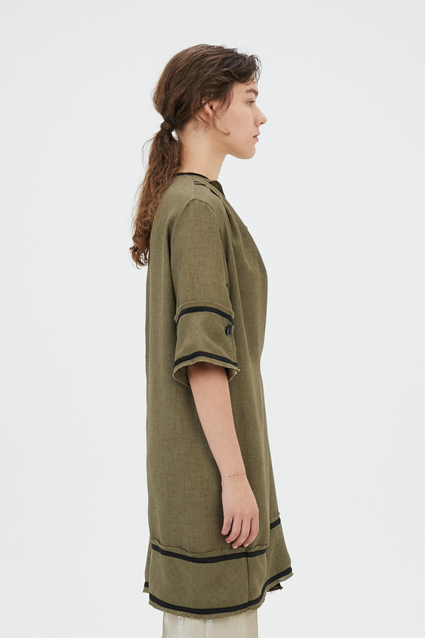 MURRAL Tucked long top (Khaki)