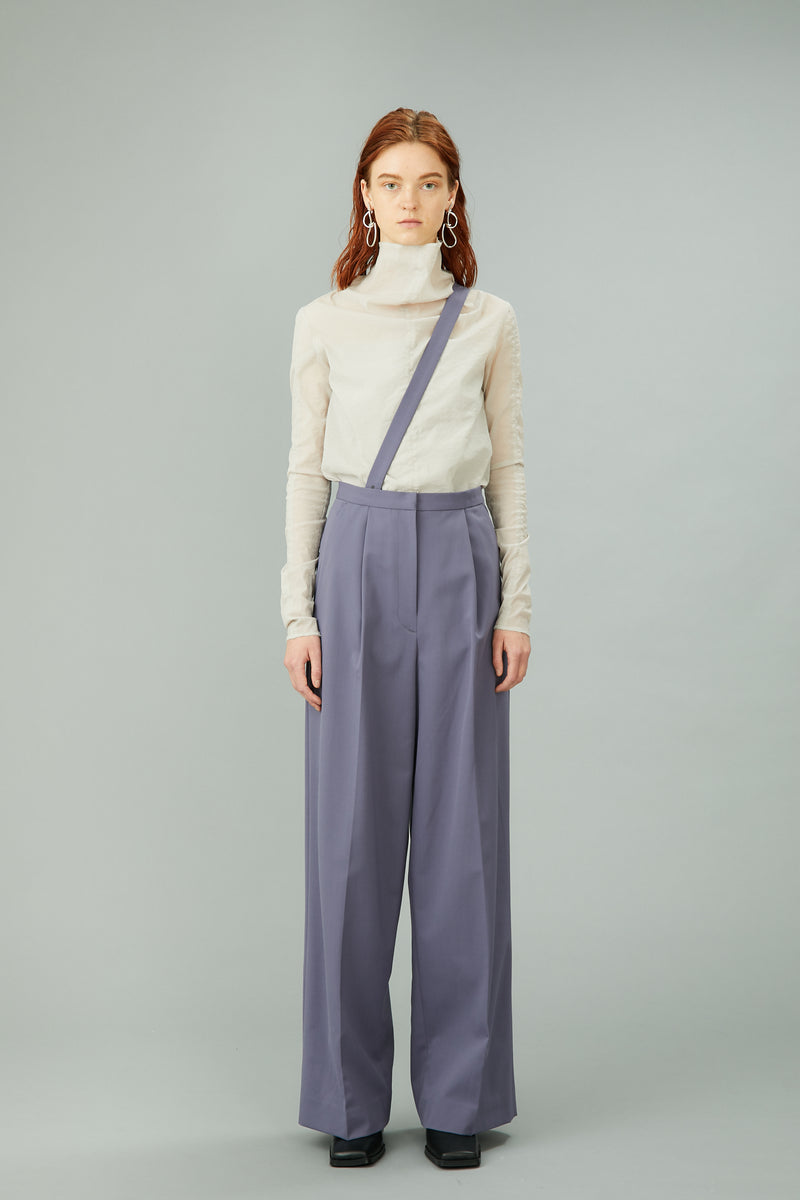 wide trousers with strap (blue)