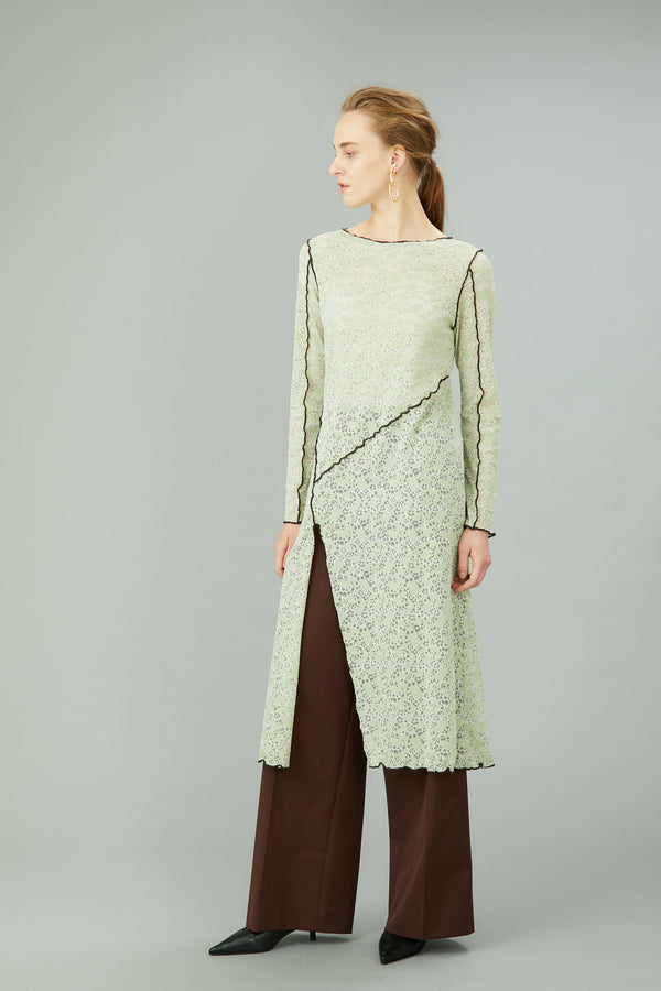 MURRAL long stretch lace dress (light green)