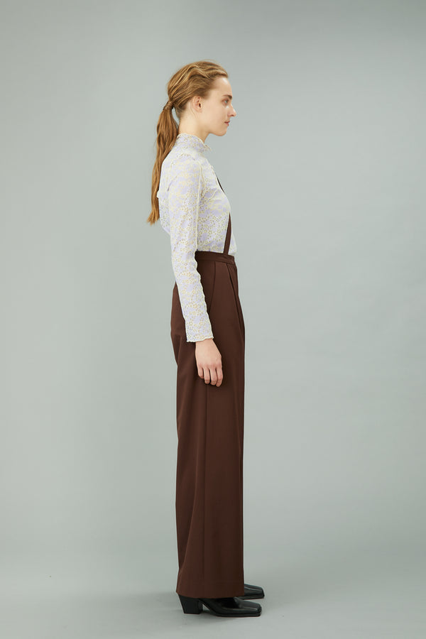 MURRAL wide trousers with strap (brown)
