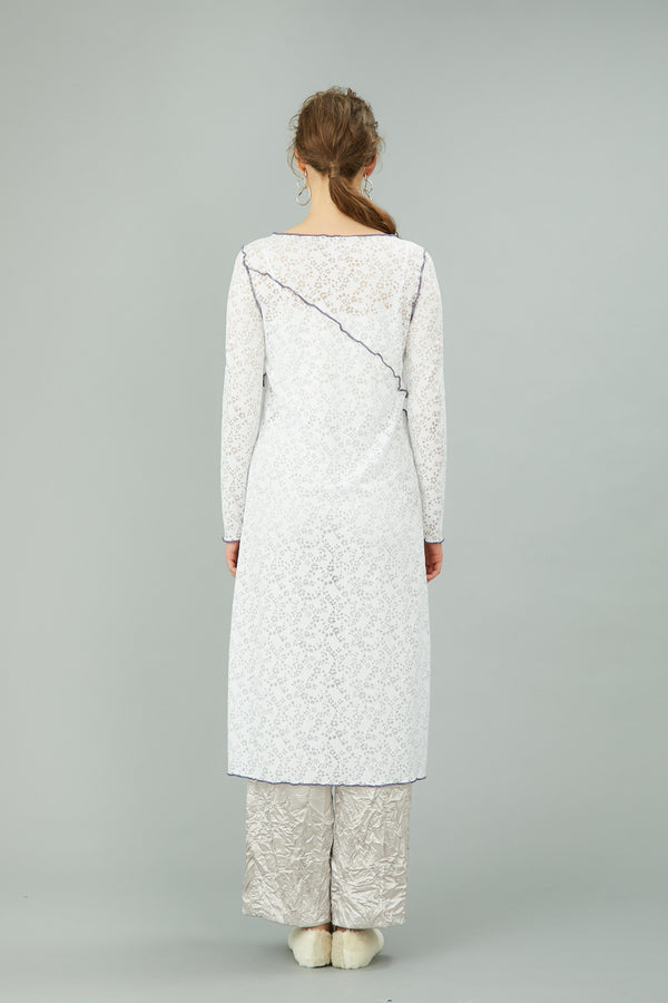 MURRAL long stretch lace dress (white)