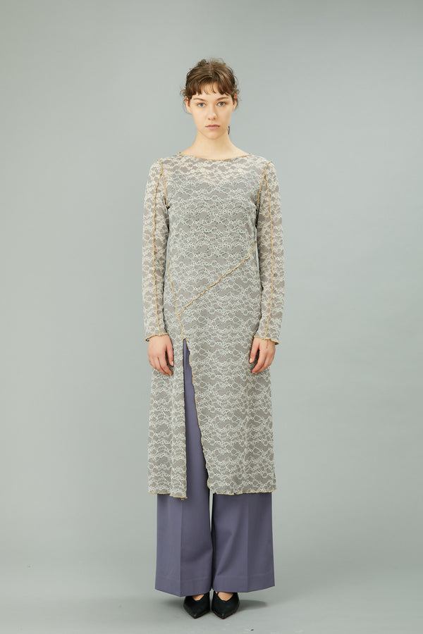 MURRAL Long stretch lace dress (Gray)