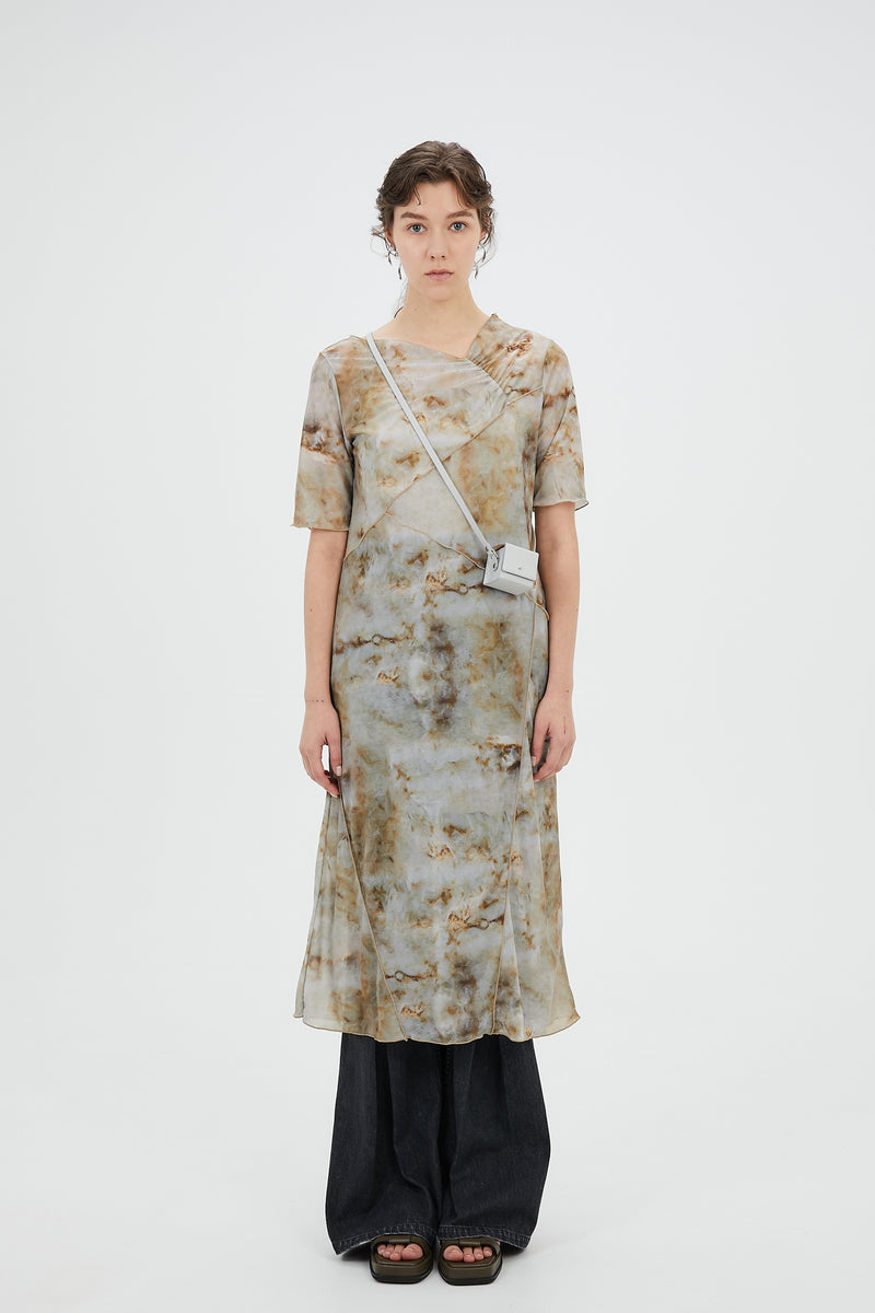 Limestone sheer dress (Beige)