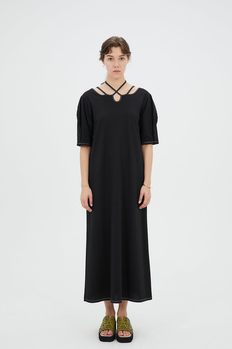 Ivy halfsleeve dress (Black)
