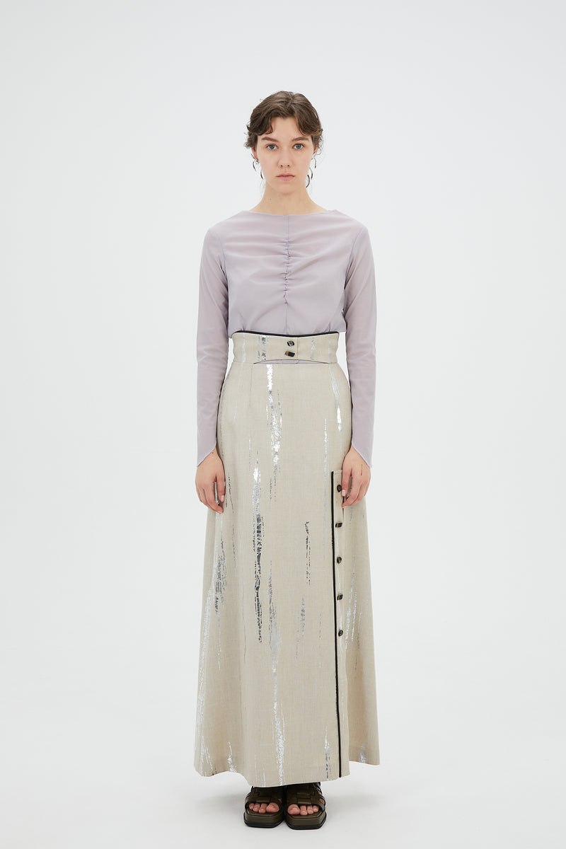 Cave long skirt (Silver)