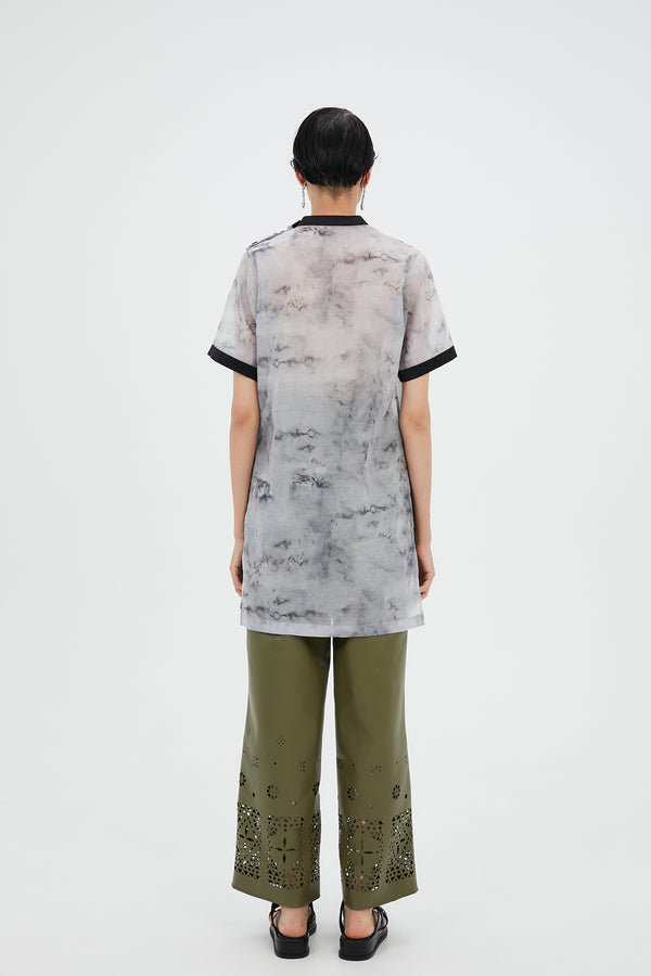 MURRAL Limestone long top (Gray)