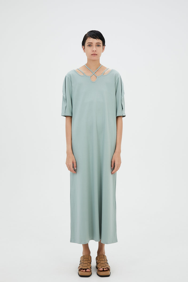 Ivy halfsleeve dress (Green)